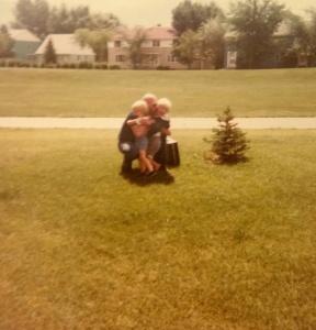 dad hugs